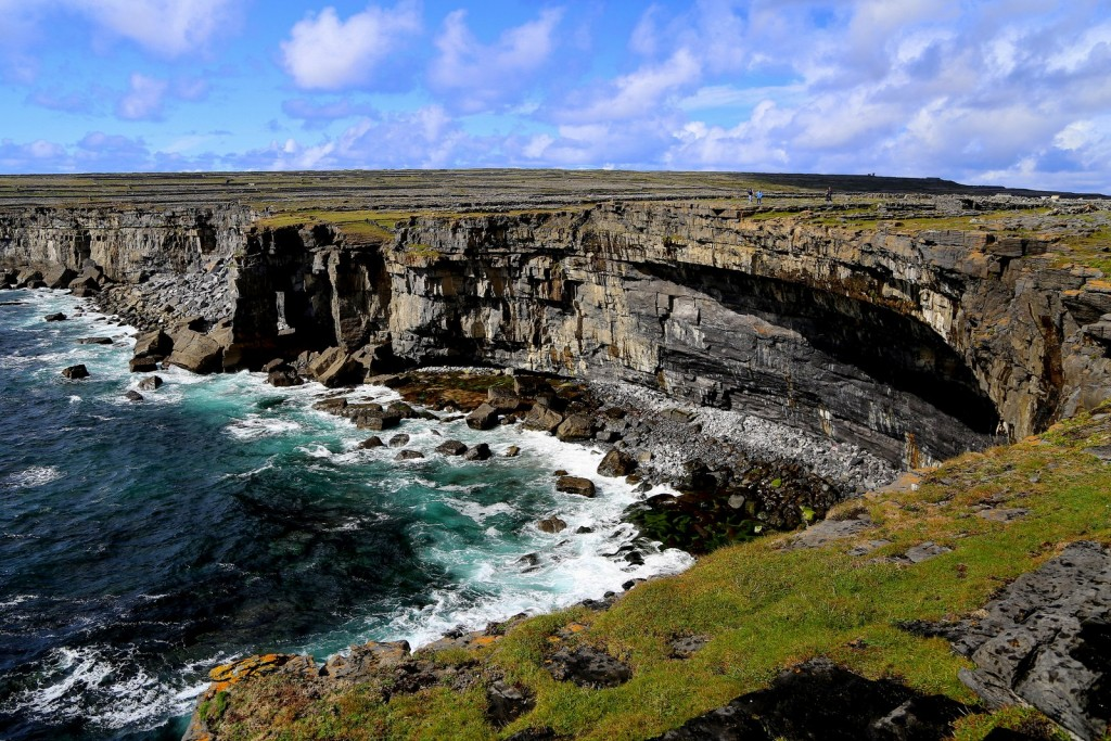 Cliff top view from Dun Duchathair, the Black Ford, Aran Islands